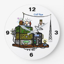 Crazy Rigs Wall Clock with Call Sign