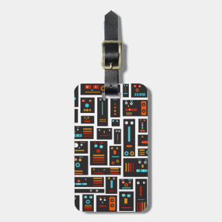 Crazy Robot Friends Luggage Tag