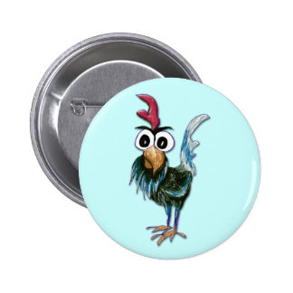 Crazy Rooster Button