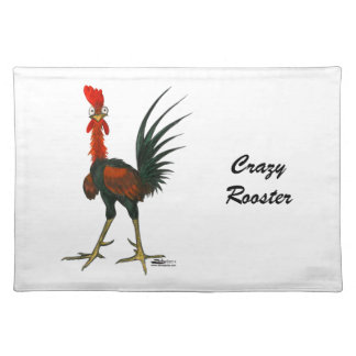 Crazy Rooster Cloth Placemat