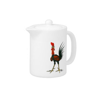Crazy Rooster Teapot