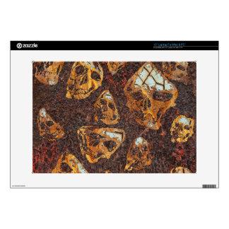 crazy rusty skulls laptop skins