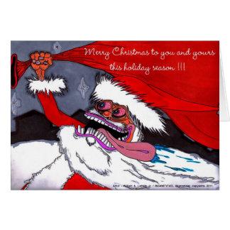 Crazy Santa Cards