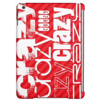 Crazy; Scarlet Red Stripes Case For iPad Air