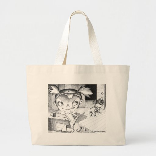 Crazy Sewing Girl Tote Bags