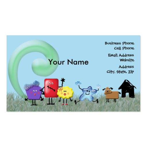Crazy shapes family business card zazzle for Family business cards
