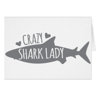 Crazy Shark Lady Card