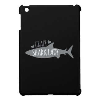 Crazy Shark Lady iPad Mini Covers