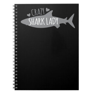 Crazy Shark Lady Notebook