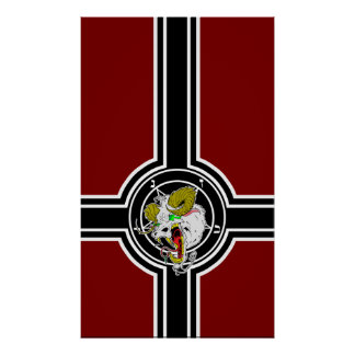 Crazy Sigil of Baphomet Flag Poster