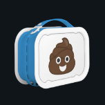 """Crazy Silly Brown Poop Emoji Lunch Box<br><div class=""""desc"""">What a funny gift for anyone who loves using the poop emoji or emoticon! OMG &amp; LOL!</div>"""