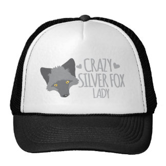 Crazy silver fox lady trucker hat