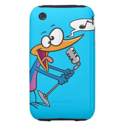 crazy singing karaoke bird cartoon tough iPhone 3 case