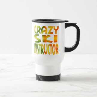 Crazy Ski Instructor in Multi Colors Travel Mug