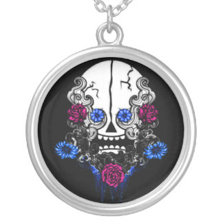 Crazy Skull Silver Plated Necklace