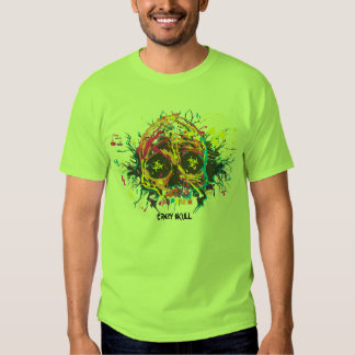 crazy skull tee shirt