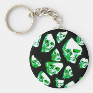 crazy skulls green key chains