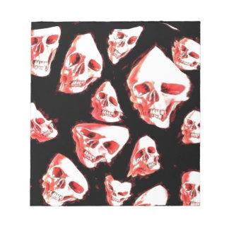 crazy skulls memo pad