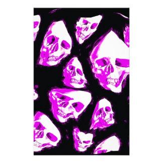crazy skulls stationery