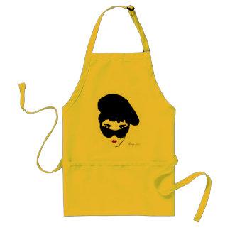 Crazy small head adult apron