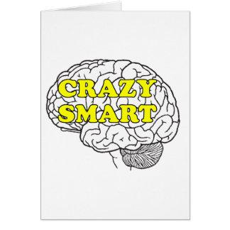 crazy smart greeting card