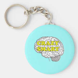 crazy smart basic round button keychain