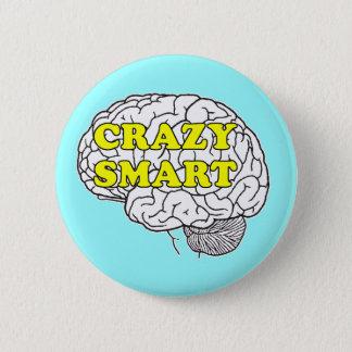 crazy smart pinback button