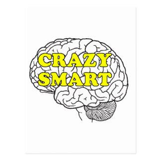 crazy smart postcard