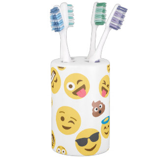 Crazy Smiley Emojis Bathroom Set