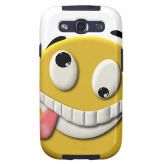 Crazy Smiley Face Samsung Galaxy SIII Covers