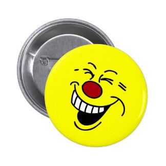 Crazy Smiley Face Grumpey Button