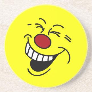 Crazy Smiley Face Grumpey Drink Coasters