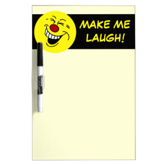 Crazy Smiley Face Grumpey Dry-Erase Board
