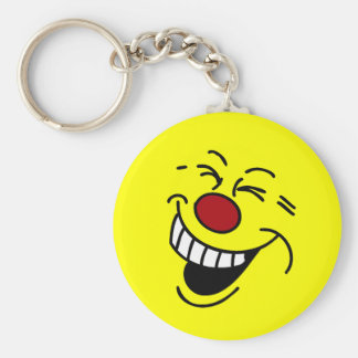 Crazy Smiley Face Grumpey Keychain