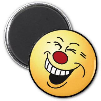 Crazy Smiley Face Grumpey Magnet
