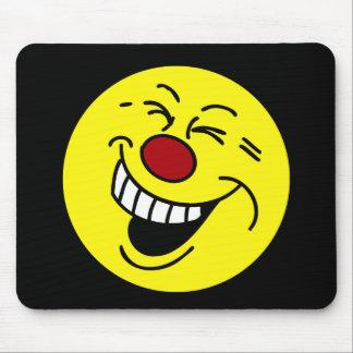 Crazy Smiley Face Grumpey Mouse Pad