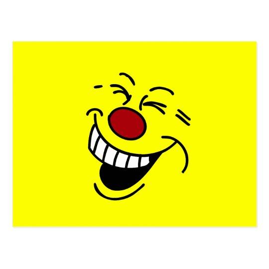 Crazy Smiley Face Grumpey Postcard