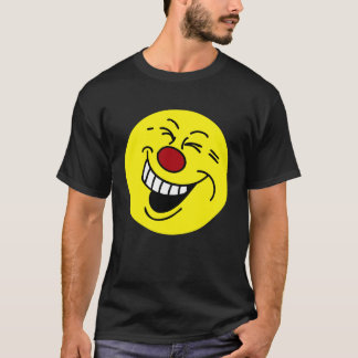 Crazy Smiley Face Grumpey T-Shirt