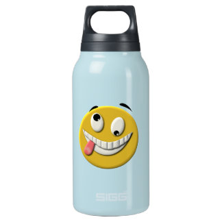 Crazy Smiley Face Insulated Water Bottle