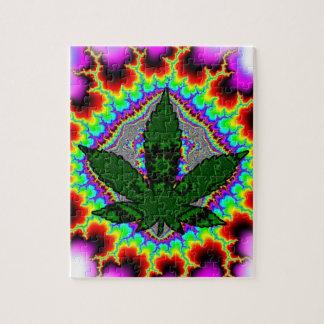 Crazy Smoke Weed Fun Rasta Jigsaw Puzzle