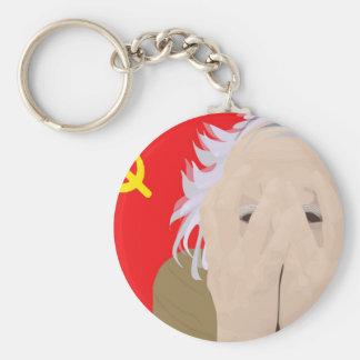 Crazy soviet scientist keychain