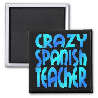 Crazy Spanish Teacher 2 Inch Square Magnet