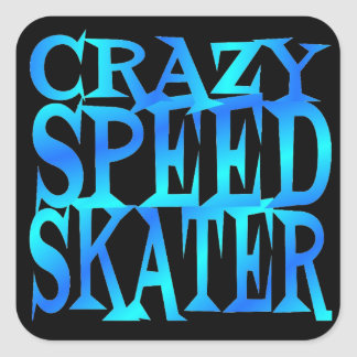 Crazy Speed Skater Sticker