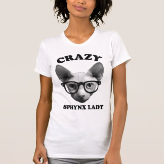 Crazy Sphynx Lady Tee Shirts