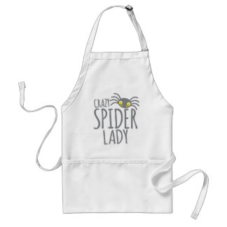 Crazy Spider Lady Adult Apron