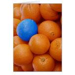 crazy splash oranges greeting cards