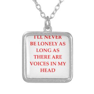 crazy square pendant necklace
