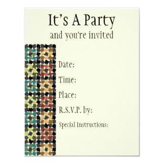 Crazy Squares Invitation