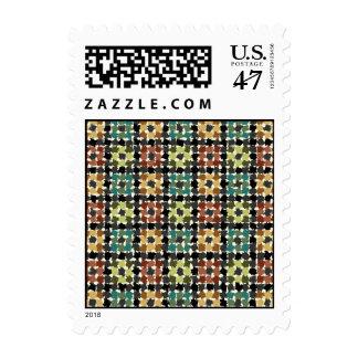 Crazy Squares Postage Stamp