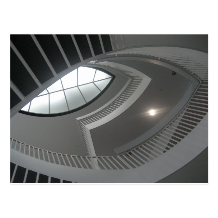 Crazy Staircase Looking Up Postcard